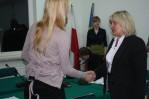 Maria Ziółek Przewod. RM gratuluje przewodniczącej MRM
