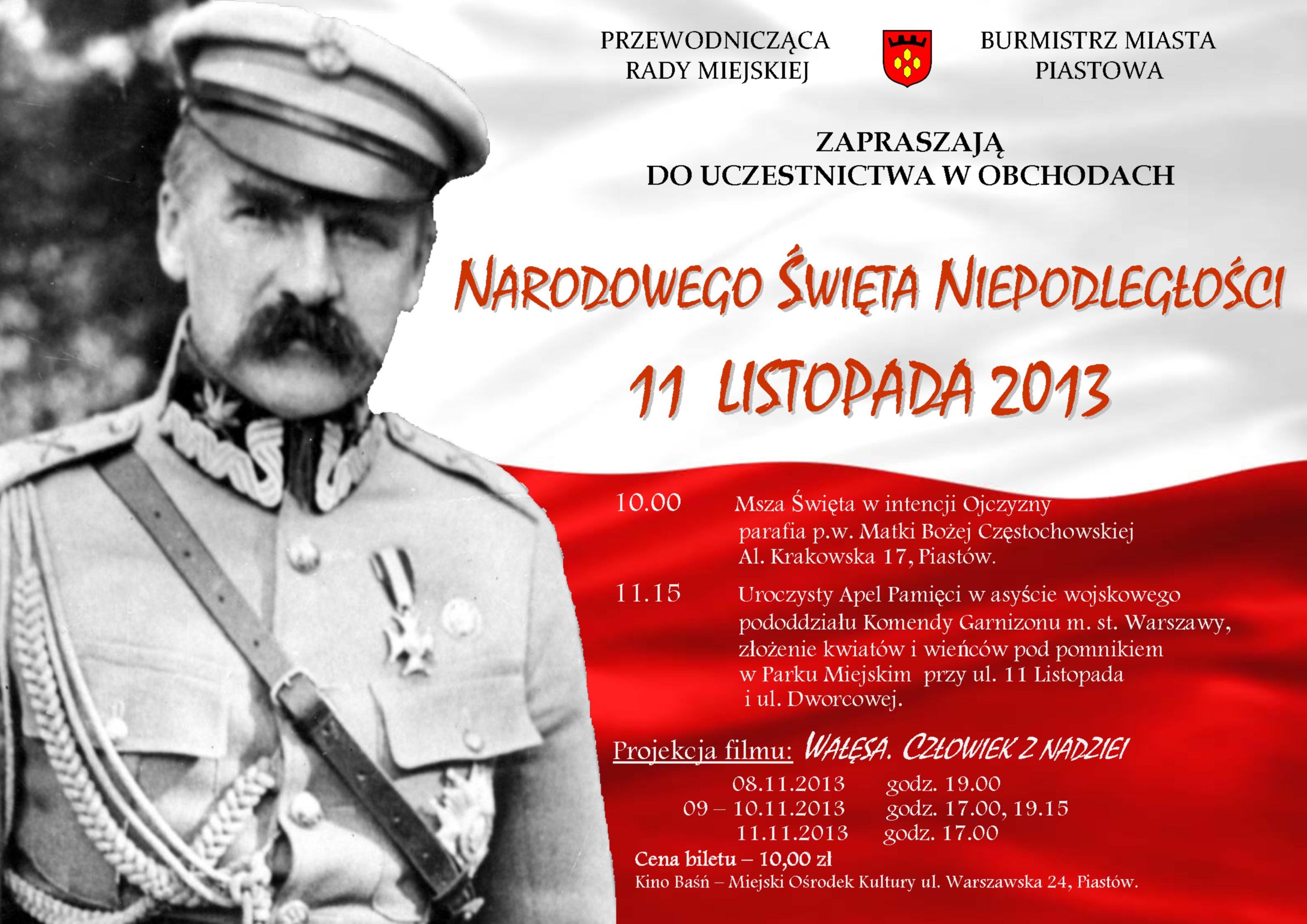 Urząd Miejski Piastów Narodowe święto Niepodległości
